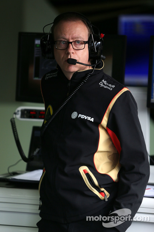 Mark Slade, Lotus F1 Team, Renningenieur