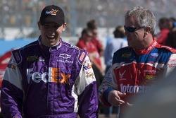 Denny Hamlin and Ricky Rudd