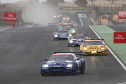 Start: #17 Russian Age Racing Aston Martin DBR9: Stéphane Ortelli, Christophe Bouchut leads the field