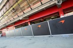 High security at the McLaren garage
