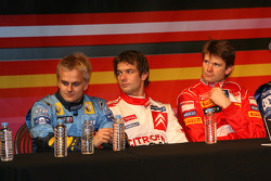 Press conference: Heikki Kovalainen, Sébastien Loeb and Marcus Gronholm