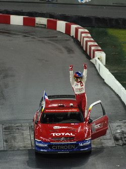 Sébastien Loeb salutes the fans after his demonstration run