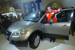 Luca Badoer at Fiat stand
