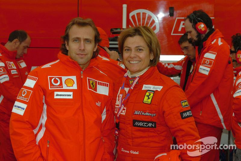 Luca Badoer et Tamara Vidali