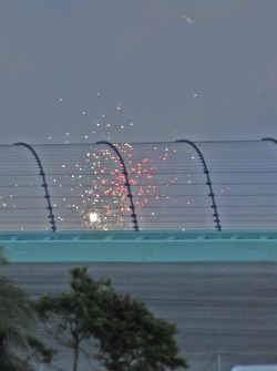 Fireworks over turn two