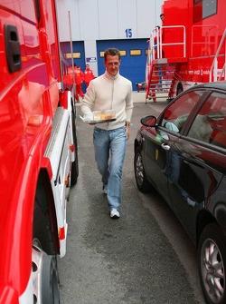 Michael Schumacher back to work after a 2-month break