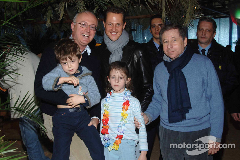Jean Todt, Michael Schumacher and Mario Micheli