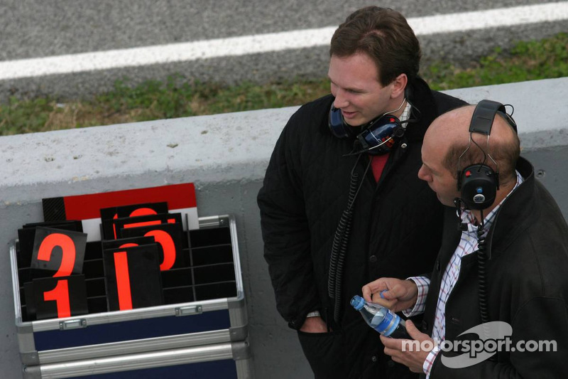 Adrian Newey and Christian Horner
