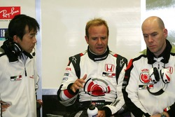 Katoh, Rubens Barrichello and Jock Clear