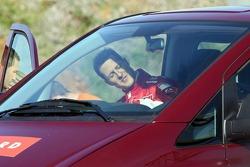 Michael Schumacher stopped on the track