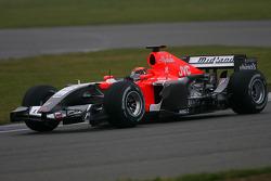 Christijan Albers tests the MF1 Racing M19