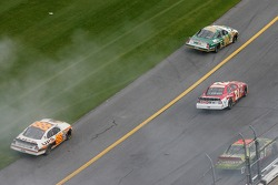 Dale Jarrett and Sterling Marlin in trouble