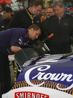Jamie McMurray's car in NASCAR inspection