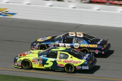 Kyle Busch and Michael Waltrip