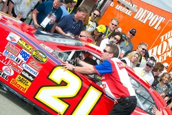 #21 car moves through technical inspection