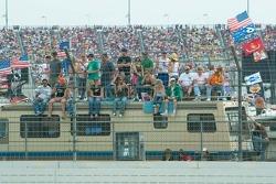 Fans along the backstretch