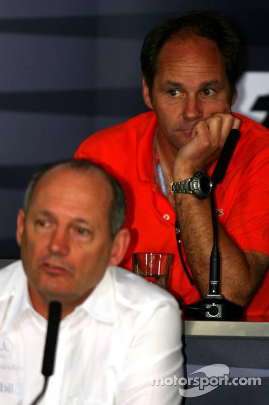 Conférence de presse: Ron Dennis et Gerhard Berger