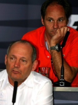 FIA press conference: Ron Dennis and Gerhard Berger