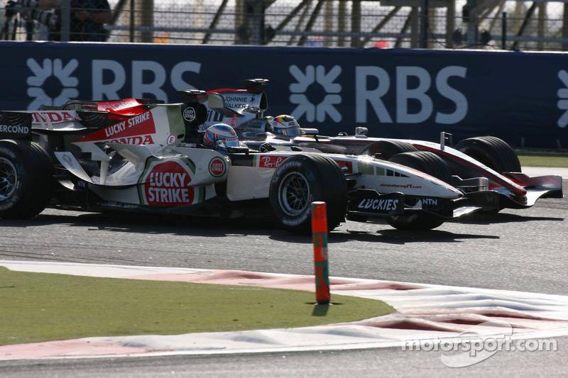 Jenson Button and Juan Pablo Montoya