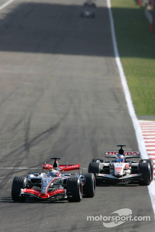 Juan Pablo Montoya y Jenson Button