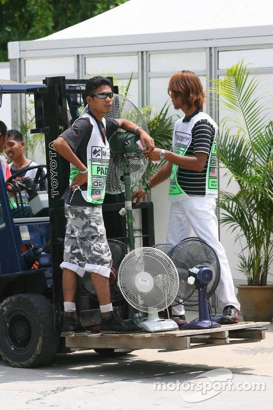 Workers at Sepang