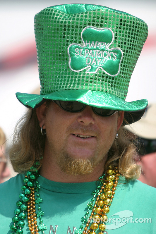 Un fan fête la saint Patrick