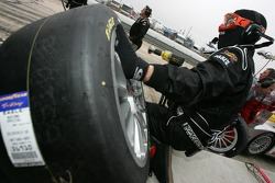 Intersport Racing team member ready for a pitstop practice
