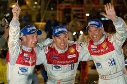 Allan McNish,Tom Kristensen and Rinaldo Capello