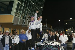Victory lane: race winners Mike Rockenfeller and Patrick Long celebrate