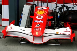Front wing of the Ferrari