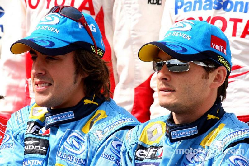 Foto de pilotos: Fernando Alonso y Giancarlo Fisichella