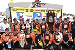 Victory lane: race winner Tony Stewart celebrates with his team