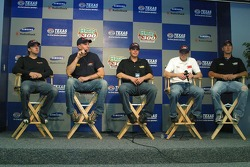 Busch Rookie of the Year candidates, A.J.Foyt IV, Mark McFarland, Buney Lamar, Todd Kluver and Jorge Goeters