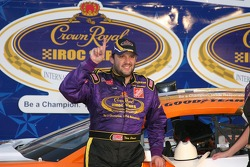 Tony Stewart celebrates in Victory Lane