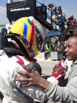Lewis Hamilton avec son frère