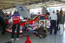 Ken Schrader's car in the garage