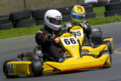 Scott Speed drives a kart