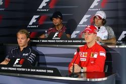 FIA press conference: Nico Rosberg, Michael Schumacher, Vitantonio Liuzzi and Jarno Trulli
