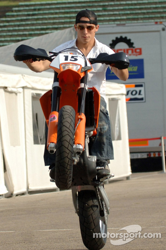 Christian Klien on his KTM