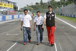 Lewis Hamilton goes on a track walk