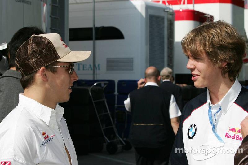 Christian Klien avec Sebastian Vettel