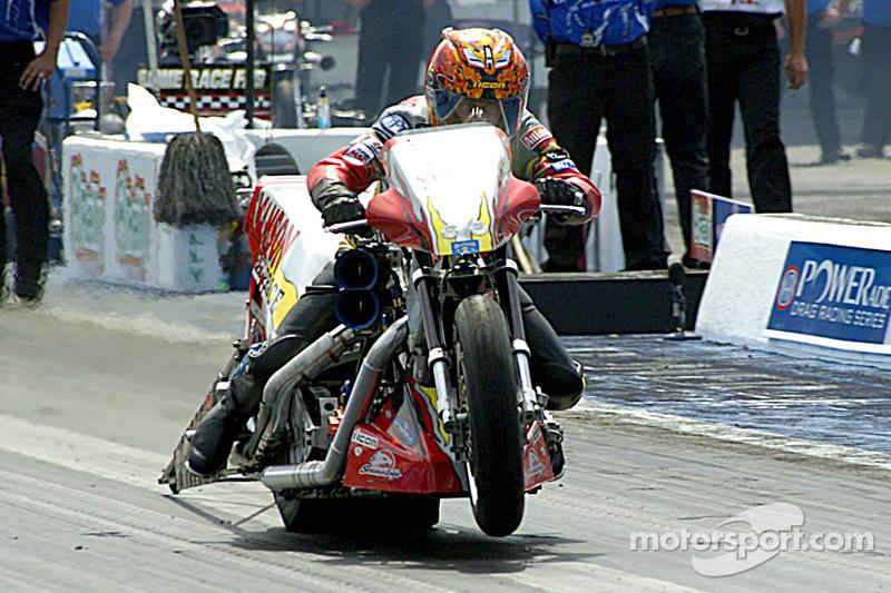 Tommy Grimes a pris la pole position en Top Fuel Harley