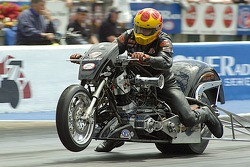Jack Romine takes the win in Top Fuel Harley