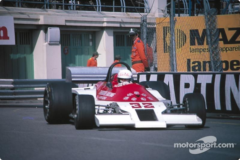 Keke Rosberg con el Theodore TR1 Ford con el que debutó en 1978