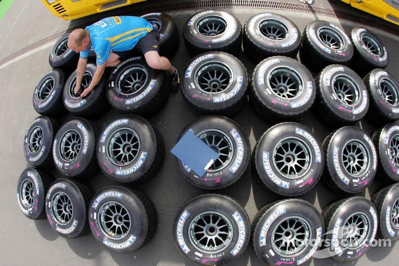 Pneus Michelin de l'équipe Renault F1
