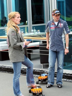Christijan Albers with girlfriend Liselore Kooijman