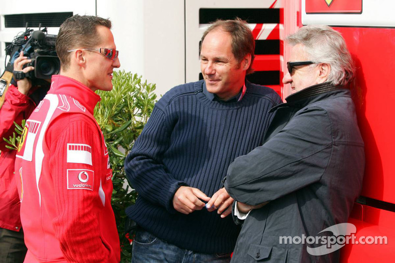 Michael Schumacher, Gerhard Berger et Willi Weber