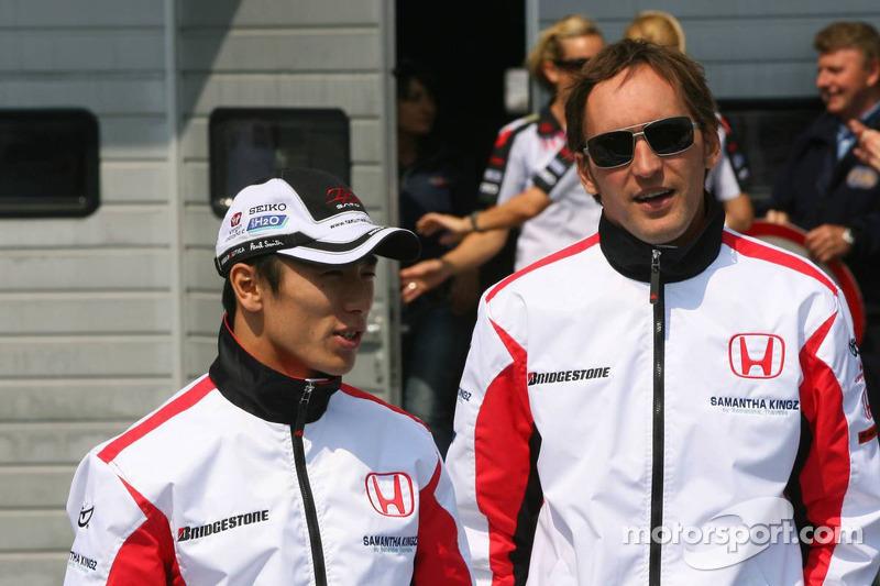 Takuma Sato et Franck Montagny