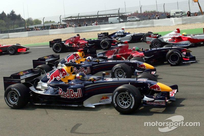 Départ: Christian Klien, David Coulthard et Vitantonio Liuzzi