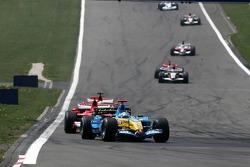 Fernando Alonso leads the field